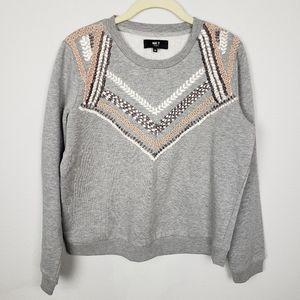 MKT Studio embroidered gray sweatshirt M